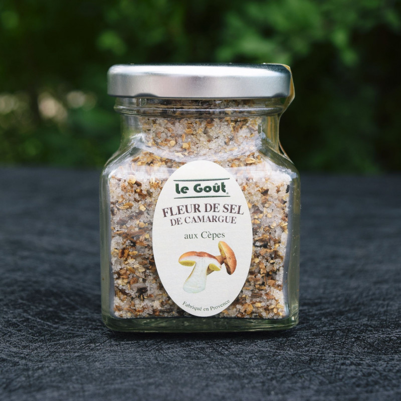 Fleur de sel de Camargue aux Cèpes