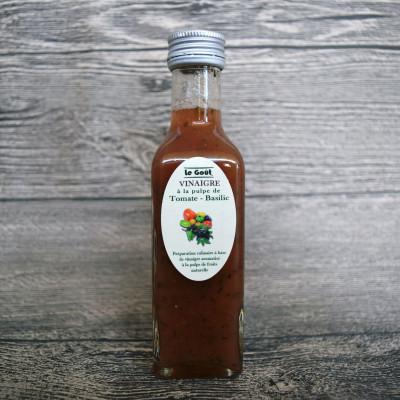 Vinaigre à la pulpe de Tomate et Basilic