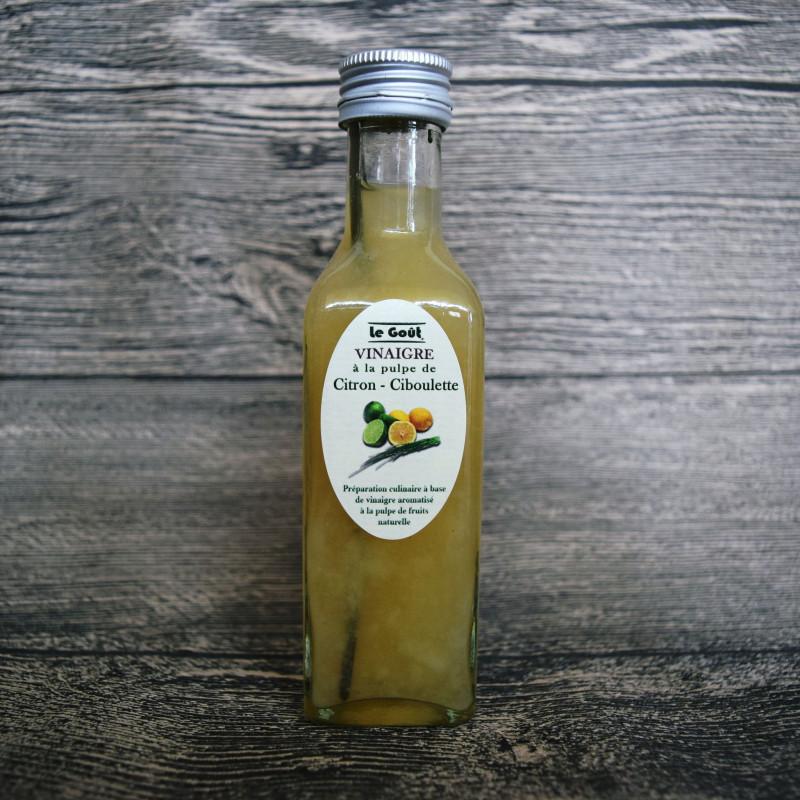 Vinaigre à la pulpe de Citron et Ciboulette